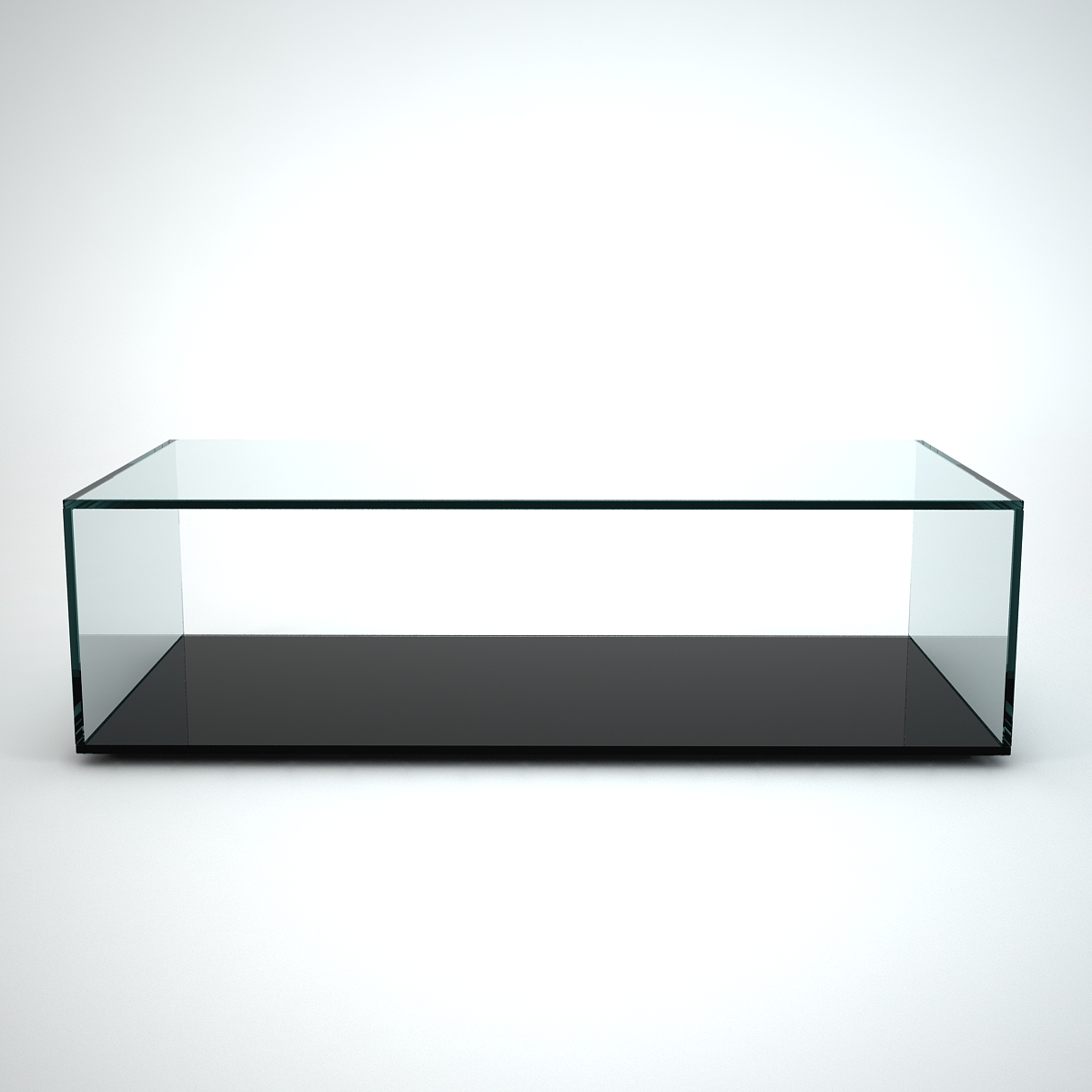 Glass Coffee Table Quebec Black Base